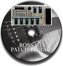 BOSS GT-6 PRE-IMPOSTATO PATCH LIBRARY PEDALE PER EFFETTI CHITARRA CD