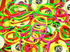 LOT 20 Bracelets Fluo Revendeur Grossiste Élastique Neuf Tendance Flashy Mode