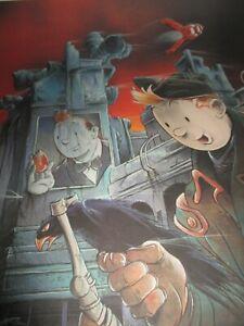 Hergé-pascal Somon-Sérigraphie -Grand format-Numérotée & Signée-450 exempl.-1986