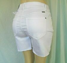 INC INTERNATIONAL CONCEPTS WOMEN'S WHITE JEAN SHORTS SIZE 10 REGULAR FIT