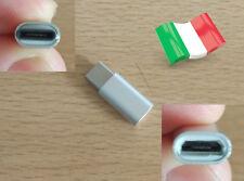 Adattatore alluminio USB 3.1 OTG type C micro USB ricarica dati Xiaomi Nexus MSI