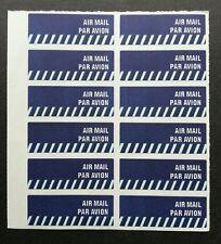 Singapore Post Airmail Sticker (12v sheet) MNH Postal Par Avion