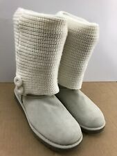 Anthropologie Target Winter Boots Knit Sweater Off White Women's Boots Size 6