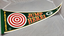 Green Bay Packers Felt Pennant Jump Here! Lambeau Leap Target NFL Football VTG