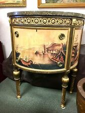 "Elegant Drexel Furniture Bombe Chest of Drawers Commode Nine Elms Marble Top 33"""