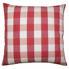 The Pillow Collection Nelson Plaid Bedding Sham Size: Standard, Color: Cherry