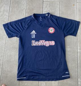 Brentford Football Shirt Training Player Issue Adidas Climacool Medium