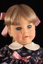 """Engel Puppe 17"""" All Vinyl Doll MULTI JOINTED Blonde & Blue Eyes Made in Germany"""