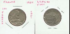WORLD COINS FRANCE 1954 100 FRANCS CH AU (G162)