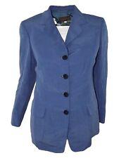cantarelli studio giacca donna blu 4 bottoni seta lino taglia it 42 m medium