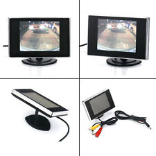 Dual RCA Video Input Car Rear View Monitor 3.5'' LCD TFT for Car Parking Camera