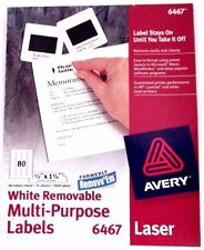 Avery Multi-Purpose Labels , 1/2 inches x 1 3/4 Inches, White, #6467 LASER