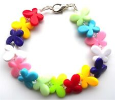 Handmade colourful butterfly bracelet - incorporating swarovski parts