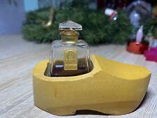 RARE COTY L'Aimant Parfum Miniatur Glastop(Lalique) im Holzschuh