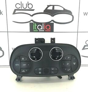 Fiat 500 Abarth Climate Control Heater Control Panel in Black  (735629323)