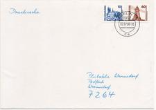 DDR 1990 MiNr 3344 und 3347 10 und 60 Pfg. Bauwerke, Erststag Drucksache