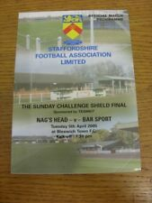 05/04/2005 The Sunday Challenge Shield Final: Nags Head v Bar Sport [At Bloxwich