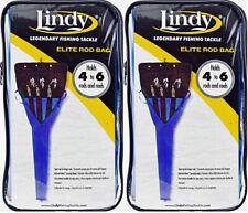 New listing (Lot Of 2) Lindy Elite Rod Bag - Holds 4-6 Rods & Reels Brb001 Blue