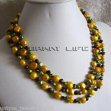 "58"" 6-10mm Multicolor Baroque Freshwater Pearl Necklace"