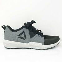Reebok Mens Hydrorush TR CN7005 Black Gray Running Shoes Lace Up Low Top Size 10