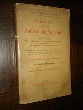 L'OEUVRE DU CHEVALIER ANDREA DE NERCIAT - Guillaume Apollinaire 1910