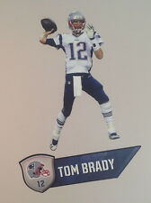 "Tom Brady FATHEAD Junior PATRIOTS NFL Player Graphic 23""x12"" & Name Sign 21"""