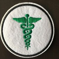 "CADUCEUS Patch - Embroidered Iron On Patch 3 "" MEDICINE HEALTH"