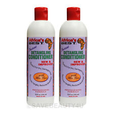 2Pc Africa's Best Instant Detangling Conditioner w/ Aloe Vera for Dry Hair -12oz