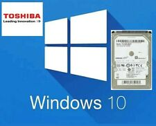 "250GB 2.5"" SATA Disco Duro Portátil Con Toshiba instalado Windows 10 Pre"
