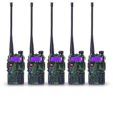 5 PCS BaoFeng UV-5R Green VHF&UHF Dual-Band Ham 5R Radio Walkie Talkie