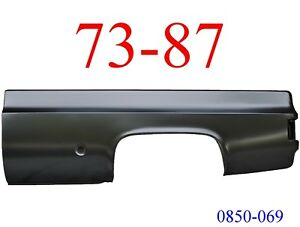 No Shipping 73 87 Chevy Truck 8' Left Bed Side Round Fuel Hole GMC 0850-069