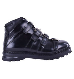 Dolce & Gabbana Runway Ankle Boots Cortina with Buckles Black 04627