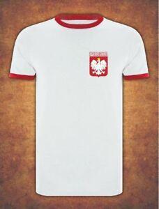 Koszulka Polska  Poland Football Kibic  Euro 2021 T-shirt Ringer White