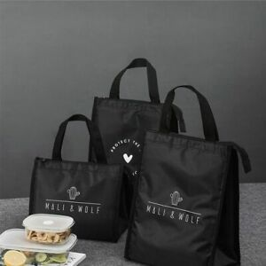 Lunch Bag Thermal Insulated Tote Cooler Durable Bento Pouch Lunch Container Tool