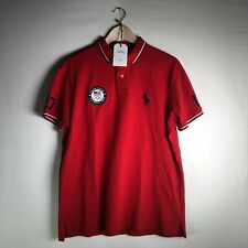 Polo Ralph Lauren Women's Red 2016 USA Olympic Team S/S Polo Shirt Size L