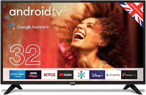 """Cello C3220G 32"""" Smart Android TV with Freeview Play, Google Assistant, Google 3"""