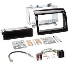 Peugeot Boxer 250 11-15 1-DIN Autoradio Einbauset+Kabel,Radioblende hochglanz