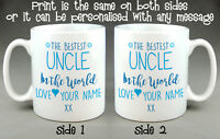 BESTEST UNCLE IN THE WORLD MUG CUP - PERSONALISED FATHER'S DAY BIRTHDAY GIFT