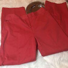 J Jill Size 14 bright colored khaki Pants Cotton Orange Coral Red  FLAW