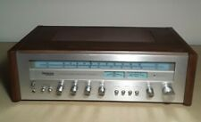 Vintage Technics Panasonic AM FM Receiver Amplifer SA-5270 Wood Cabinet & Chrome