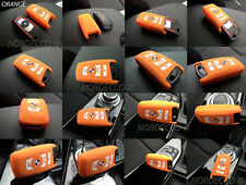 SILICONA DE ALTA CALIDAD SIN LLAVE SMART 3 4 FUNDA PROTECTORA BMW M (NARANJA)
