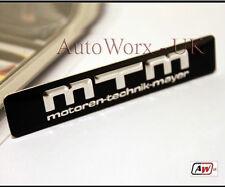 MTM Badge Emblem VW Golf Polo Scirocco Audi TT A1 S1 S3 A4 S4 RS4 A5 S5 RS6 Q7 Q