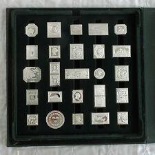 50 X Sello lingote de plata prueba 1980s conjunto de la sociedad de Postmaster-Completo