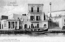 BRINDISI - Colonne Romane e barca 1924