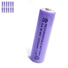 12 pcs AA 2A 3000mAh 1.2V Ni-MH rechargeable battery Solar Light MP3 Toy Purple