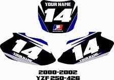 00-02 Yamaha Yzf250 Yzf426 Number Plate Backgrounds Graphics Sticker yzf 426 250