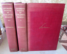 2Vols,INTIMATE PAPERS Of COLONEL HOUSE,1926,Charles Seymour,1st Ed,Illust