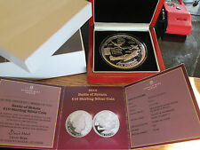 2010 £10 SILVER PROOF 5 oz COIN ANNIVERSARY OF THE BATTLE OF BRITAIN very Rare