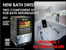 NEW BATH SWISS FORMULA 2K ENAMEL KIT PAINT BATH REPAIR REFURBISHING RESURFACING