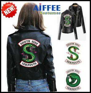 New Womens Riverdale Southside Serpents Jughead Jones Faux Leather Biker Jacket